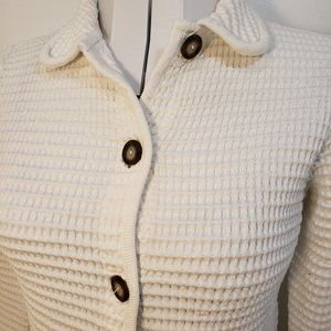 2/$40 Republic Blues Collection White Knit Coat